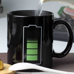 Kreatives Geschenk-Batterie-Muster-Hitze-Entfärbungs-Cup