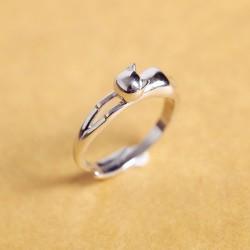 Reizende nette Ursprüngliche Bauchschlafenkätzchen 925 Öffnungs-Ring