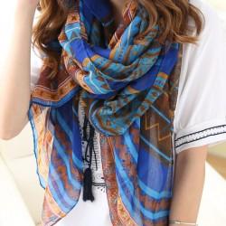 Lady Folk Muster Schal Schal Dual-Badetuch Sonnenschutz Schal