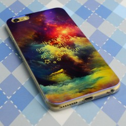 Mystiker Nacht Star Wolke Silica Gel Thin Soft Case für iPhone 5 / 5S / 6 / 6Plus