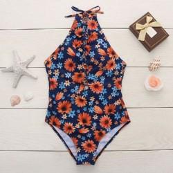 Frisch Klein Gänseblümchen Bikini Badeanzug Siamese Bandage Einteiliger Badeanzug