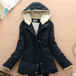 Süßigkeit-Farben-Thicken Wolle mit Kapuze Mantel