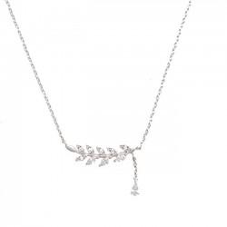 Süße Frauen Zubehör Blatt Sommer Olive Blätter Schlüsselbein Halskette