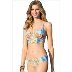 Stripes Print Bikinis Set Totem Bademode Strand Badeanzug