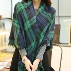 Warm Schal Plaid Schal große Handgemachtes Quaste quadratischer Schal