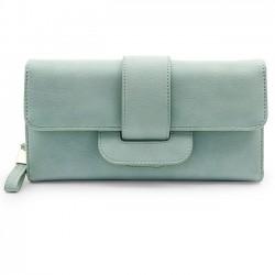 Frische Mädchen Platz ganze Farbe PU Geldbörse Geldbörse Handtasche
