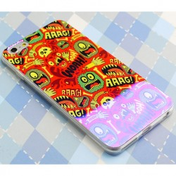 Bunt Monster Löwe Silica Gel Thin Weiche Fall für Iphone 5 / 5S / 6 / 6Plus