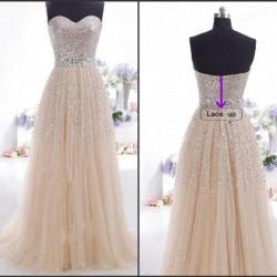 Elegant Damen Chiffon Pailletten T-Shirt-Kleid Formal Lange Abendkleid Party Prom Brautjungfern Maxikleid