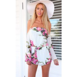 Mode Sexy Sommer Kleid Printed Chiffon Jumpsuit