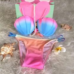 Tie-dyed Bikini Fantasy Shell Farbverlauf Badeanzug Bademode