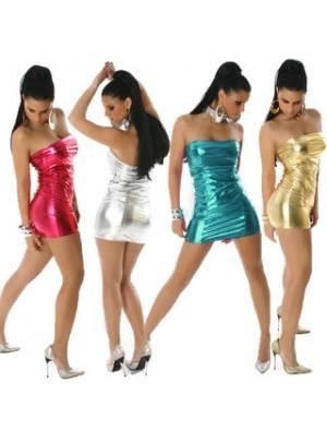 Reizvolle Art Fest Glänzendes Trägerloses Kleid