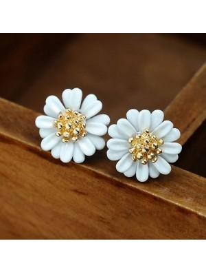 Frische Bunte Farben Little Daisy Blumen Süße Dame nette Ohrringe