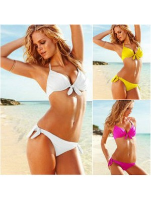 Sexy Steel Breast Care Bow Bikini-Badeanzug
