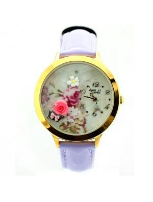 Niedlich Rose Gold Rand Polymer Lehm Uhr