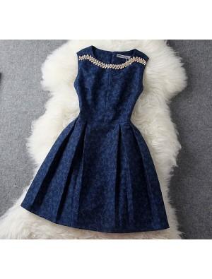 Einzigartige Jacquard Perlen Strass gesticktes Kleid und Kleid
