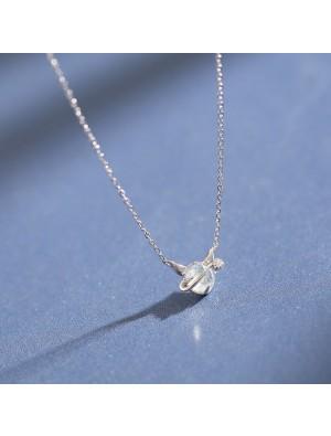 Niedlichen einfachen Traum Kristall Silber kleiner Teufel Anhänger Temperament Halskette