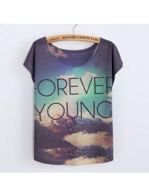 Original Farbverlauf Himmel für immer Junge bedruckte Baumwolle T-Shirts