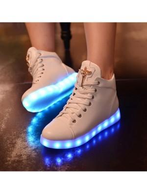 LED Lade Licht High-Top-Schuhe Casual Turnschuhe Schuhe