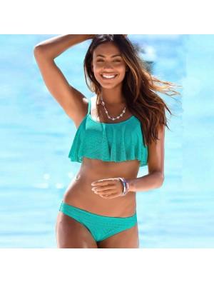 Sexy Hohl Badeanzug Multicolor Netto-Garn Frauen Bikini