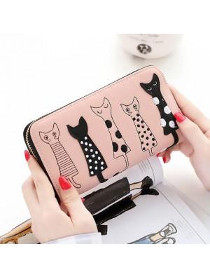 Nette lange Katze Geldbörse Kätzchen Tier Handtaschen