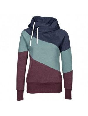 Kontrastfarbe für Damen Nähen Pullover Pullover Kaschmir Wolle Sport Mantel