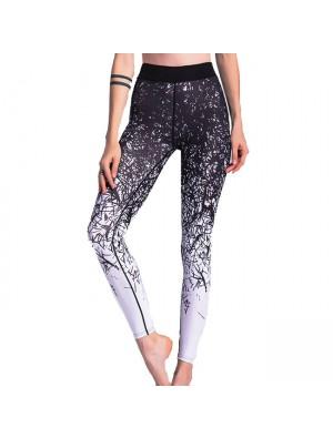 Einzigartig Gigis Sport Gamaschen Jean Irregulär Allmählich Veränderung Zeilen drucken Yoga Dünne Legging