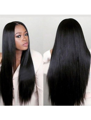Mode Mittel Separate Lange Glatte Haar Perücke Damen Spitze Haar Perücken