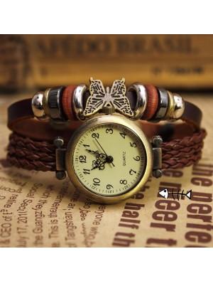 Bohemian Retro Freizeit Seil Armband Uhr