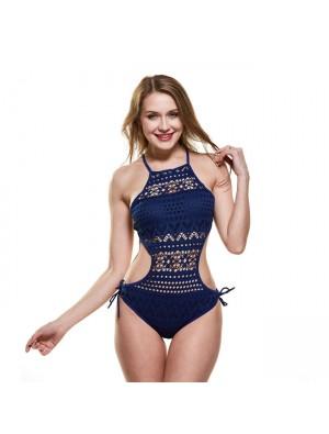 Sexy Lace Hollow einteiliger Damen Net Bikini Bikini Mesh Badeanzug verbunden