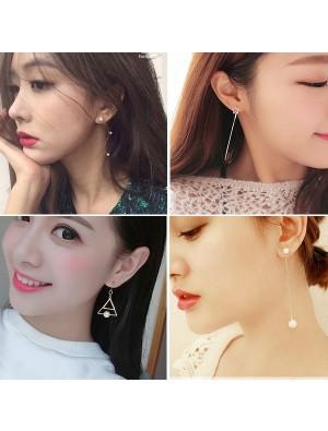 Einzigartige Perle lange Quasten Drop Dangle Geometrie Party lineare Ohrringe