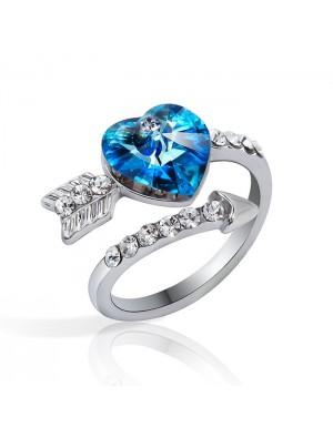 Süß Arrows Von Liebe Herz Kristall Ring