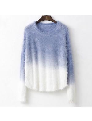 Weiches Springy Farbverlauf Mohair Pullover