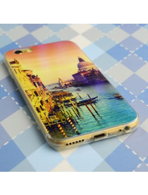 Laser Blaues Licht Himmel Lovers Transparent soft Case Für iPhone 5 / 5S / 6 / 6Plus