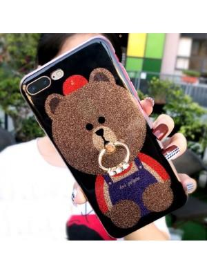 Netter glänzender Bär glattes Iphone Abdeckung Tier Iphone 6 / 6s / 6 plus / 6s plus / 7/7 plus / 8/8 plus Iphone Hüllen