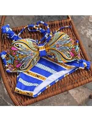 Sommer blauen Badeanzug Totem Printed Bikini