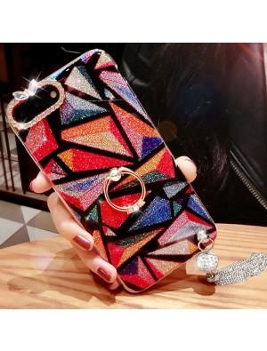 Elegante Diamant-eingefaßte bunte Quasten, die luxuriöses Iphone 7/7 plus / 8/8 plus Fall glänzen