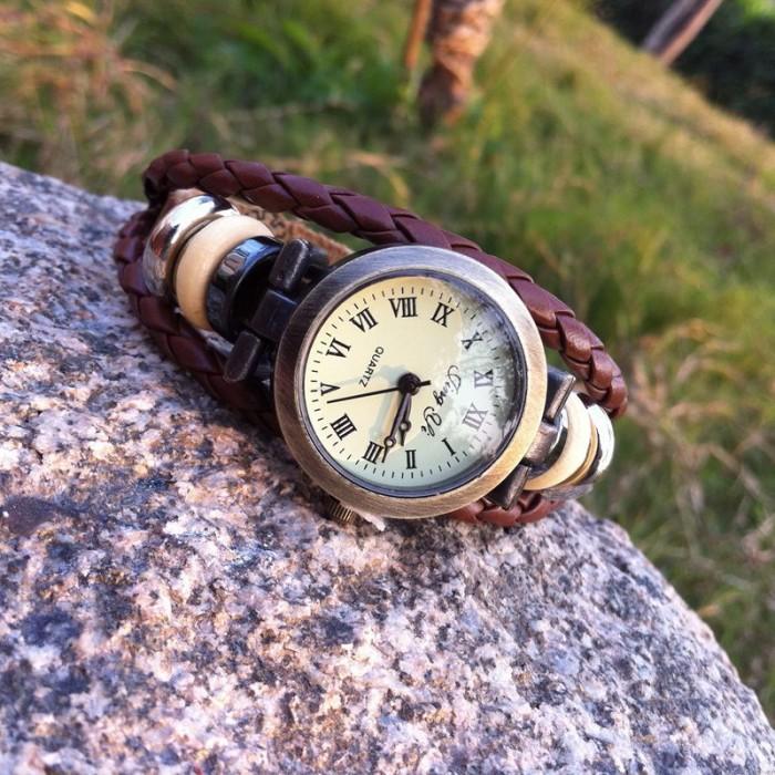Retro Seil Handgemachtes Armband Uhr