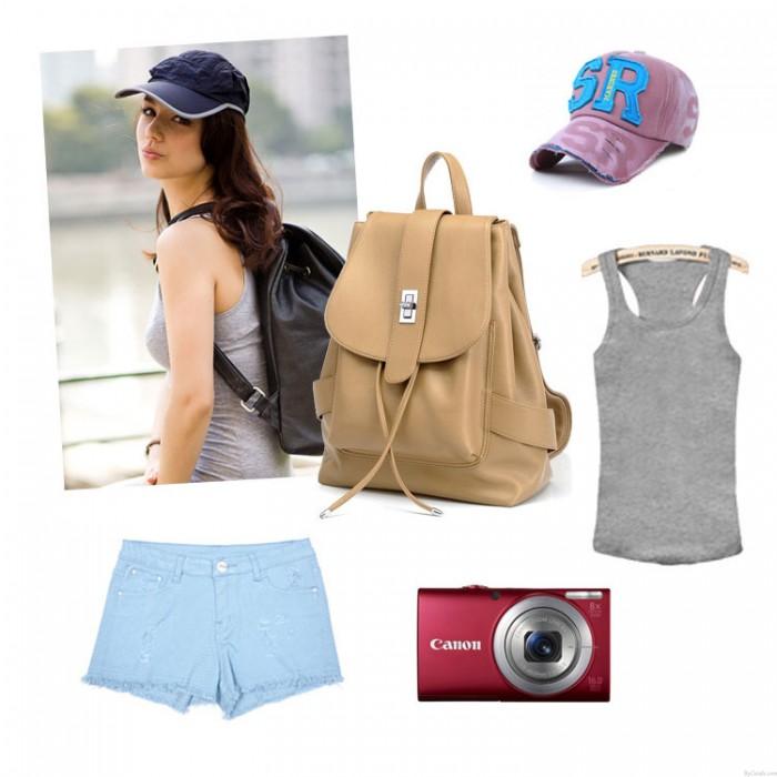 Mode Leder Pfeil Tassel Reiserucksack