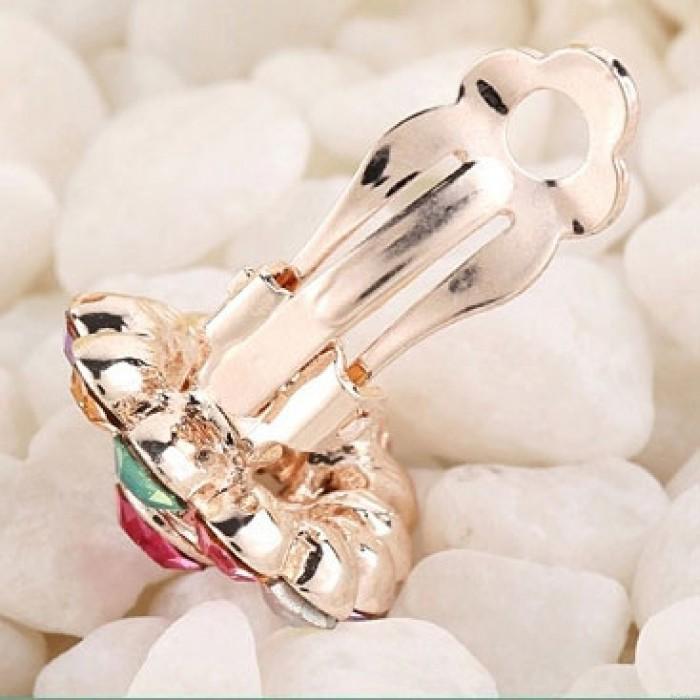 Bling-Wasser-Tropfen Voll Diamant Ohrclips