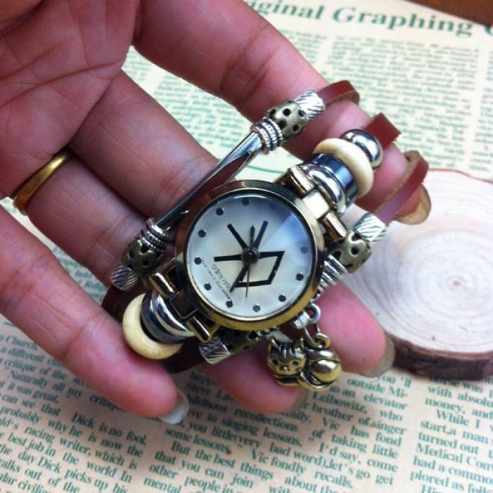 Original-Cat Charm Armbanduhr aus Stahl