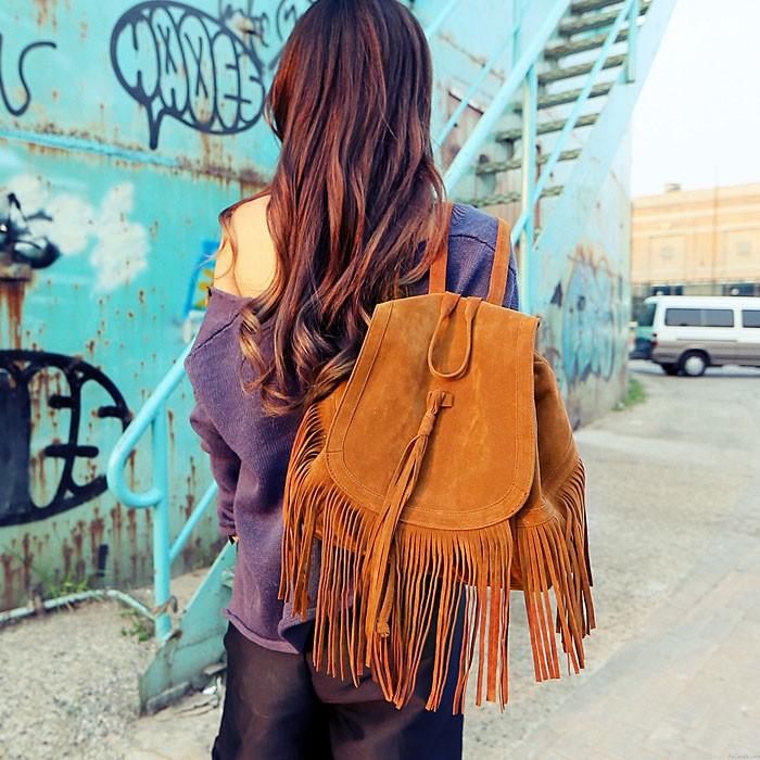 Mode Promi Tassel Rucksack Reisetasche