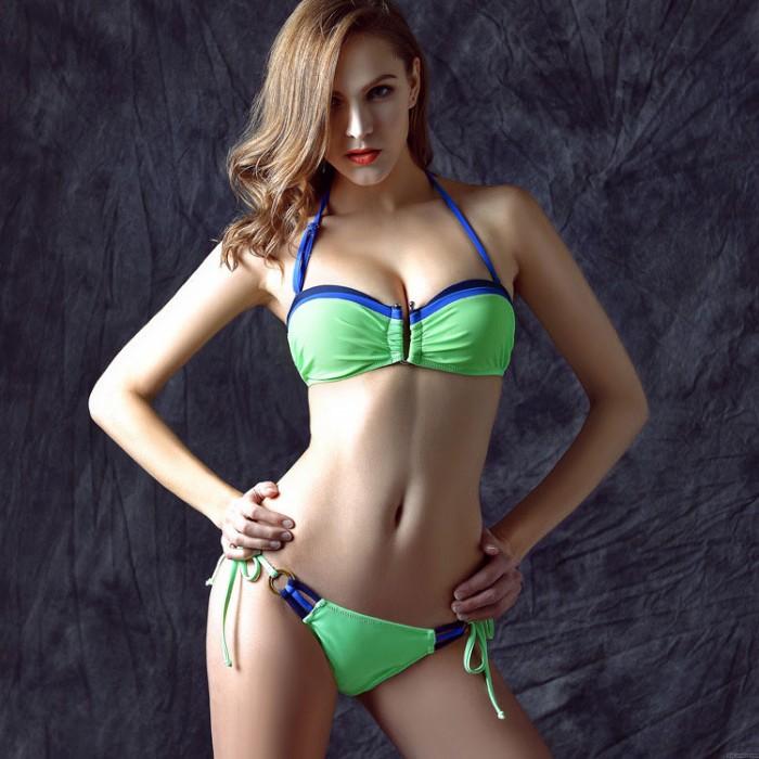 Sexy Triangel Bikini Push-Up Strand Badeanzug