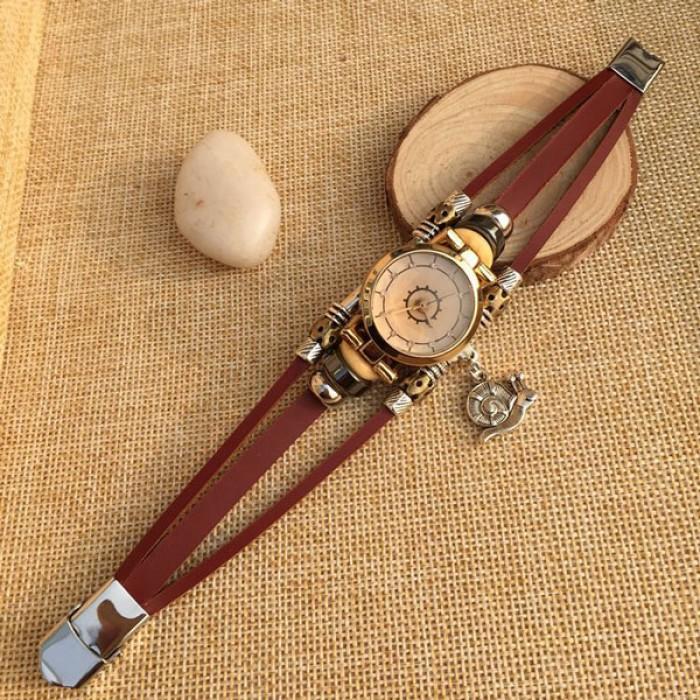 Mode Schnecke Charme Leder Armband Uhr
