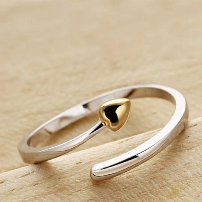 Rose Gold plattiert Liebe-Öffnungs-Ring 925 Sterlingsilber