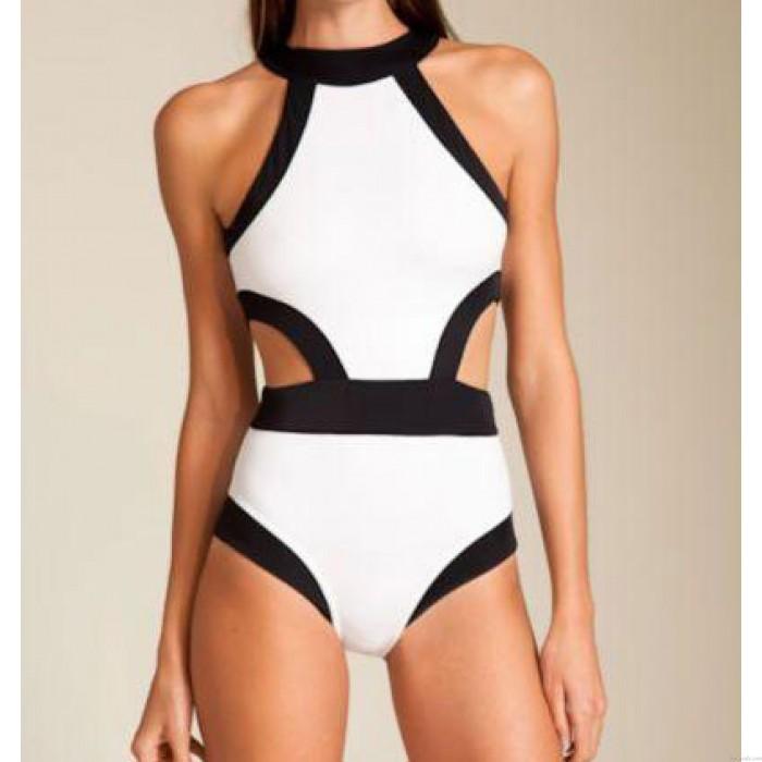 Triangle Sexy Crop Top Bikinis Set Kontrast Farbe Bademode Strand Badeanzug