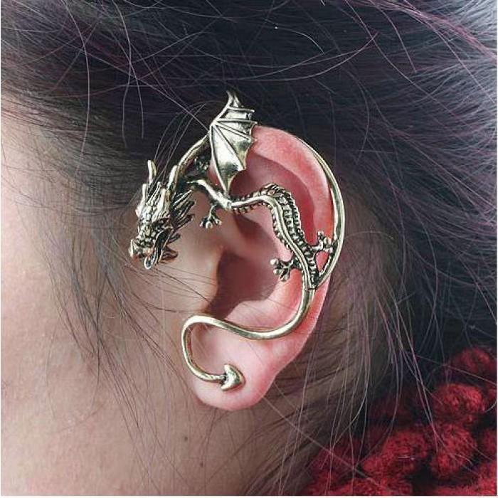 Punk Retro Drachen geformt Ohrring Clips