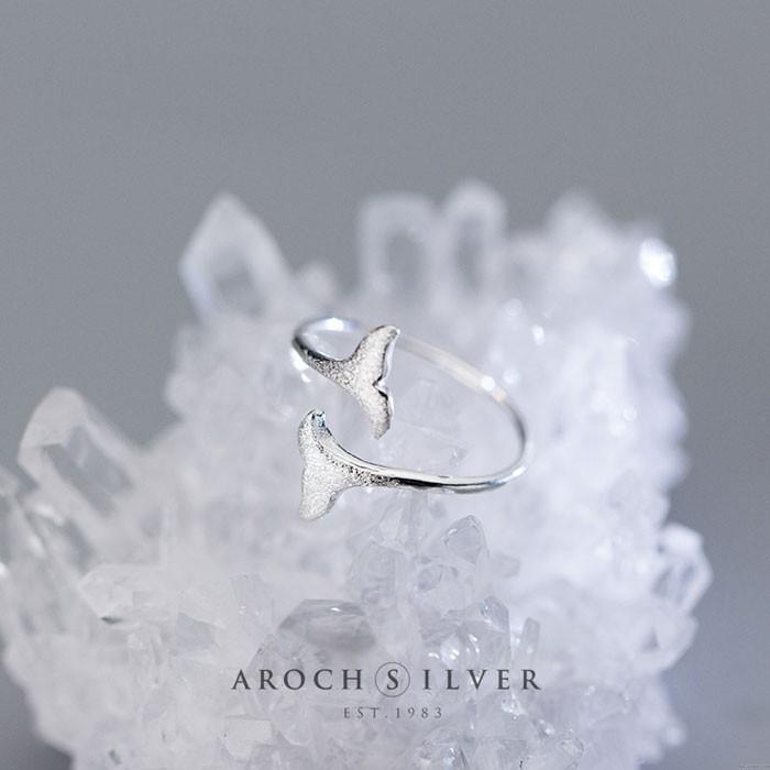 Schöne Meerjungfrau Schwanz gefrostete Frauen Ring öffnen