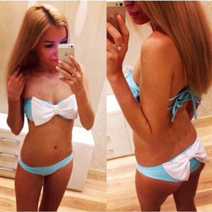 Süße Bowkow Bikini-Badebekleidung Badeanzüge Bikini-Badeanzug