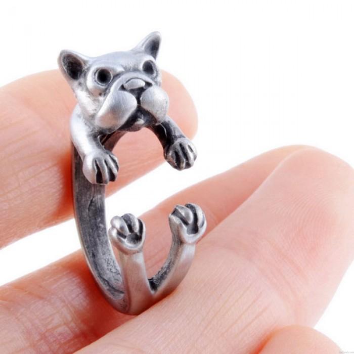 Original Netter Shar Pei Dog-förmigen Alu-Öffnungs-Ring