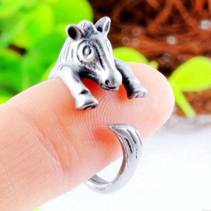 Tiere nette Legierungs Zebra-Öffnungs-Ring